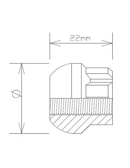 Juego 3 barras vehiculo industrial 135 cm.