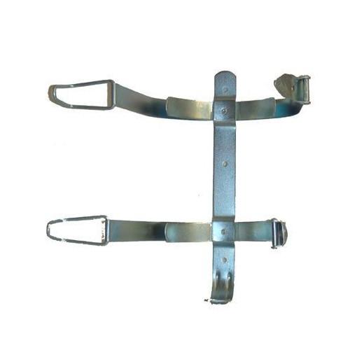 Soporte metálico doble fleje para extintor de 2 y 3 Kg.