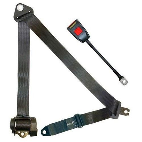 Cinturon de seguridad automático de 4 puntos homologado. Hembra rígida de 30 cm.