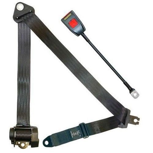 Cinturon de seguridad automático de 4 puntos homologado. Hembra rígida de 45 cm.