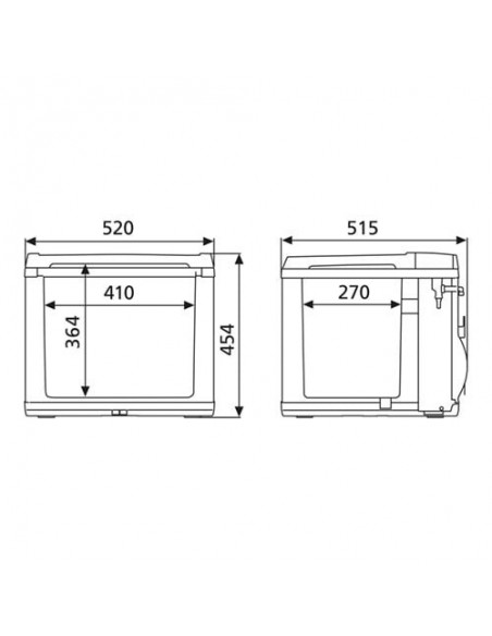 Nevera termoeléctrica y de compresor Dometic CK40D Hybrid