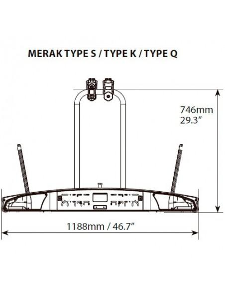 Portabicicletas bola 2 bicis Menabo Merak Type Q
