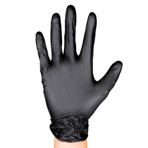 Guantes desechables de nitrilo negro