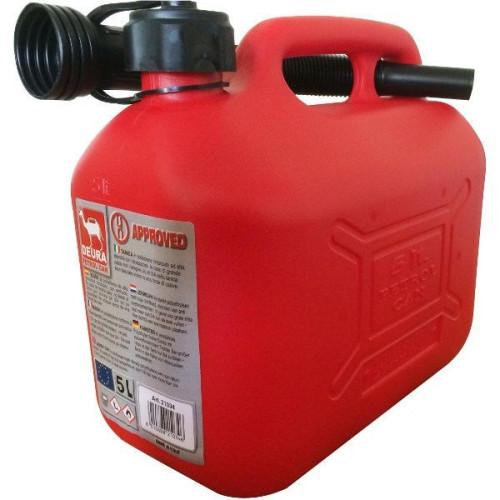 Bidón para combustible homologado de 5 litros.