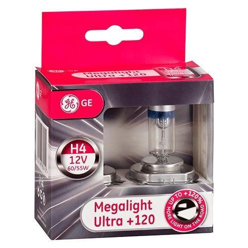 Juego 2 bombillas GE 120% + luz H4