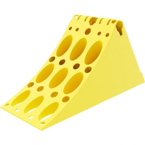 Calzo homologado DIN 76051 medidas 383 x 160 x 193 milimetros.