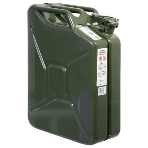 Bidón de combustible homologado metálico de 20 litros.