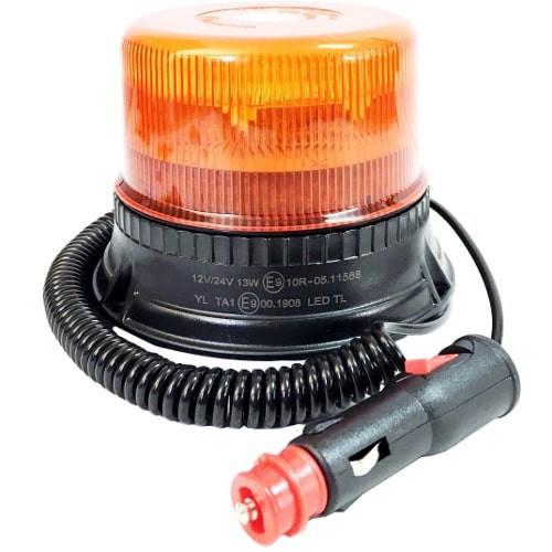 ROTATIVO MAGNETICO 12-24V R65-R10 8 LED