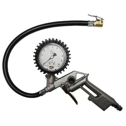 Pistola de inflado con manómetro homologado
