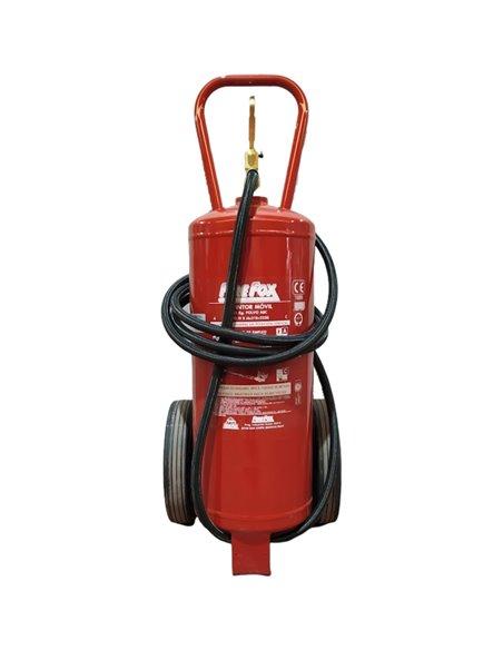 Extintores de polvo ABC con ruedas